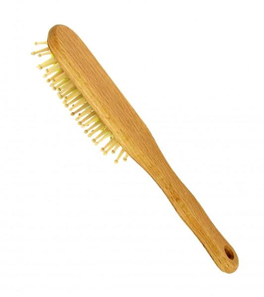 Haarbürste länglich, mittellanges bis langes Haar, 100% Buche