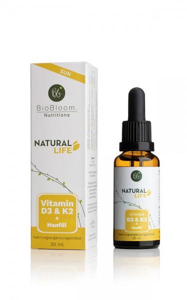 Vitamin D2+K2, Natural Sun, mit Hanf